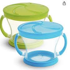 Kit 2 Potes Biscoito Munchkin Azul/verde