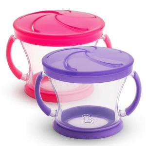 Kit 2 Potes Biscoito Munchkin Rosa/lilás