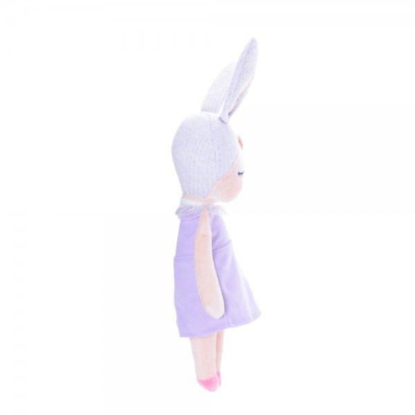 Boneca Angela Jardineira Lilás 33cm - Metoo