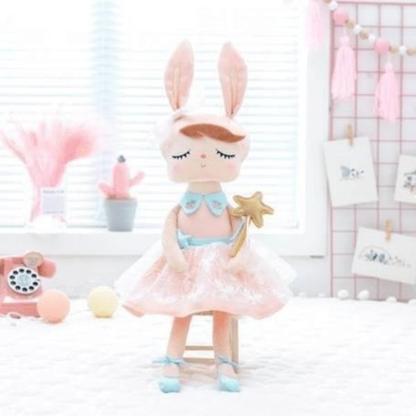 Boneca Com Caixa Angela Fada Rosa - Metoo