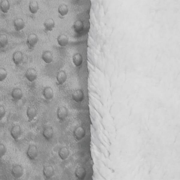Cobertor Sherpam Dots Cinza Glacial - Laço (inf 0,90x1,10)