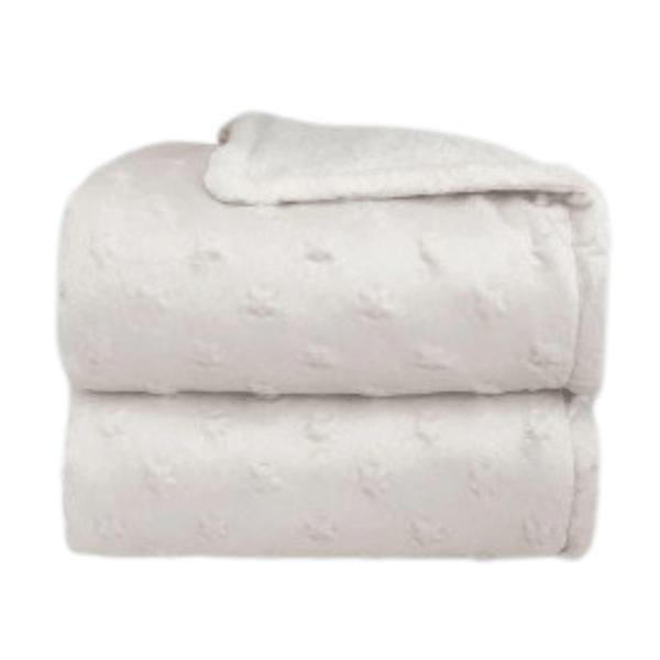 Cobertor Inf 0,90x1,10 Laco Sherpam Stars Branco