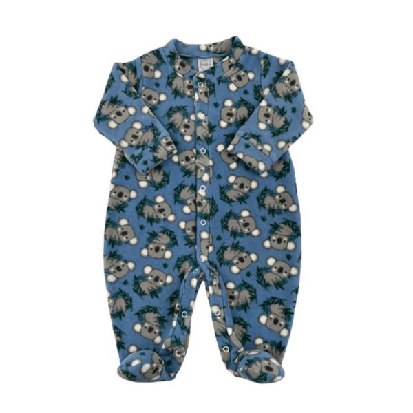 Macacão Soft Coalinha - Azul Denim - 3 Anos - Piu Blu