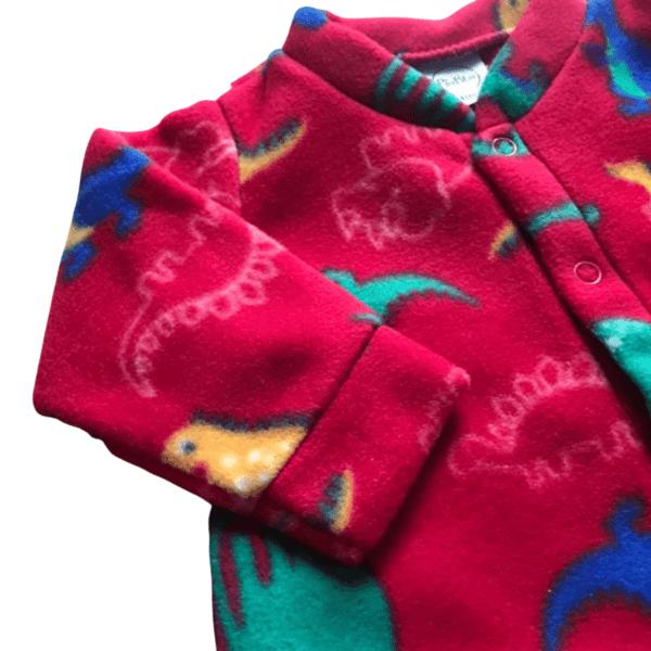 Macacão Soft Dino - Vermelho - 1 Ano - Piu Blu