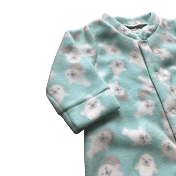 Macacão Soft Leão Marinho - Verde - 1 Ano - Piu Blu