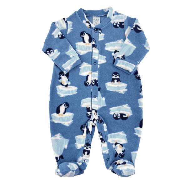 Macacão Soft Pinguim - Azul Denim - G - Piu Blu