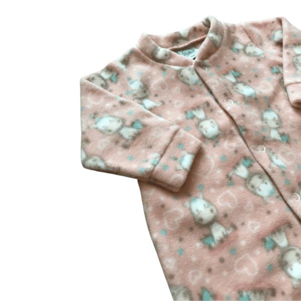 Macacão Soft Unicórnio Rosa - Pêssego - 1 Anos - Piu Blu