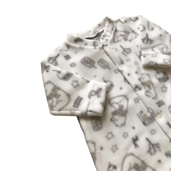 Macacão Soft Ursinho - Branco - M - Piu Blu